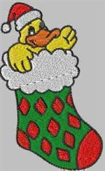 Duck Stocking embroidery design