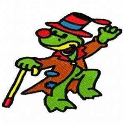 Clown Frog embroidery design