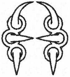 Claw A embroidery design