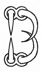 Claw B embroidery design
