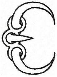 Claw E embroidery design