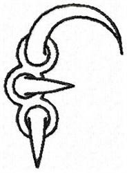 Claw F embroidery design
