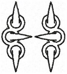 Claw H embroidery design