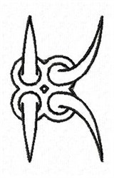 Claw K embroidery design