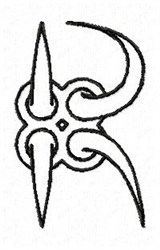 Claw R embroidery design