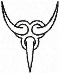 Claw Y embroidery design