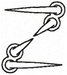 Claw Z embroidery design
