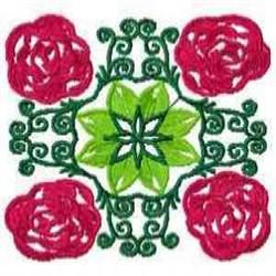Bloom Block embroidery design