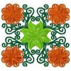 Block Blossom embroidery design