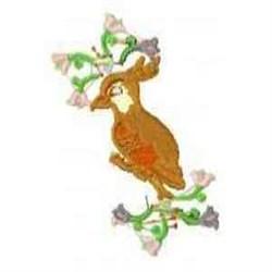 Bird Flowers embroidery design