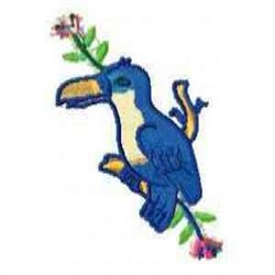 Bird Blooms embroidery design