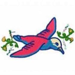 Bird Blossom embroidery design