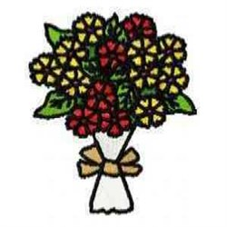 Bouquet Florals embroidery design