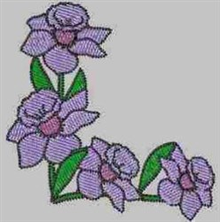 Blooming Corner embroidery design