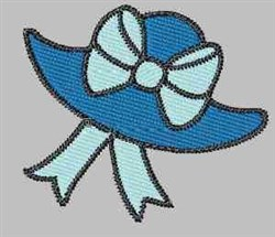 Blue Hat embroidery design