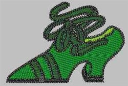 Green Shoe embroidery design