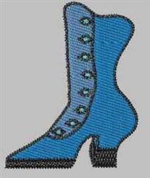 Blue Boot embroidery design