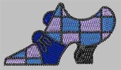 Checkered Shoe embroidery design