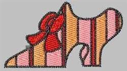 Striped Shoe embroidery design