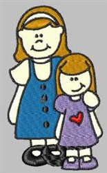 Big & Little Sis embroidery design