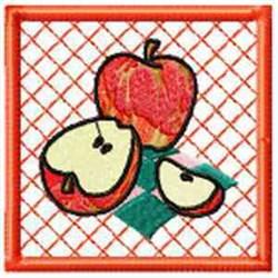 Apple Potholder embroidery design