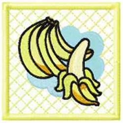 Banana Potholder embroidery design