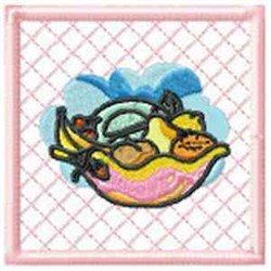 Fruit Bowl Potholder embroidery design