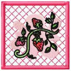 Strawberry Potholder embroidery design