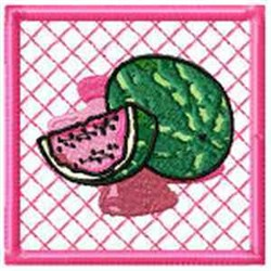 Watermelon Potholder embroidery design