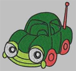 Funky Green Car embroidery design