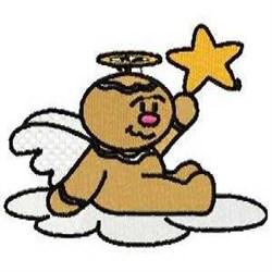 Ginger Star Angel embroidery design