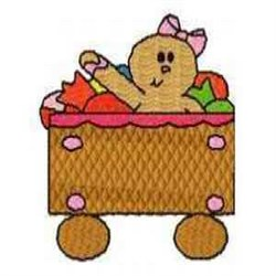 Gingerbread Train embroidery design