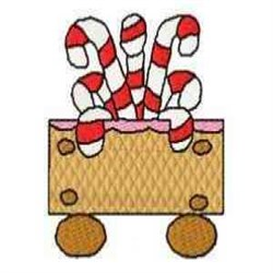 Gingerbread Candy Train embroidery design