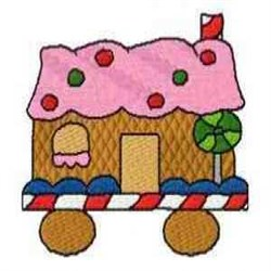 Ginger House Train embroidery design