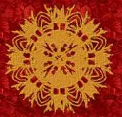 Golden Medallion embroidery design