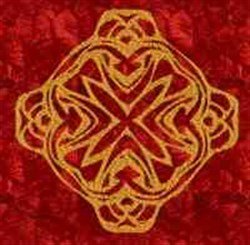 Gold Medallion embroidery design