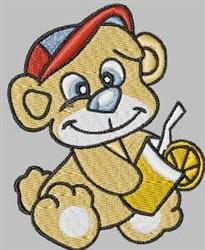 Juice Bear embroidery design