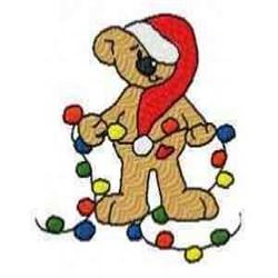 Lights Bear embroidery design