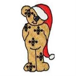 Snowflake Bear embroidery design