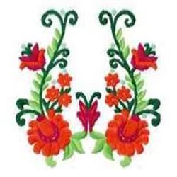 Beautiful Orange Floral embroidery design