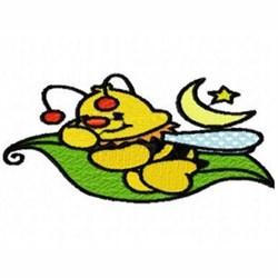 Sleeping Bee embroidery design