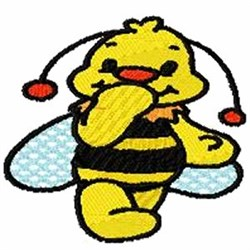 Bee Giggles embroidery design