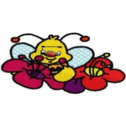 Bee in Blooms embroidery design