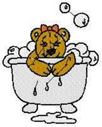Bubble Bath Bear embroidery design