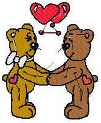 Bear Sweethearts embroidery design