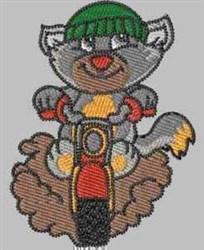 Dirt Biker Cat embroidery design