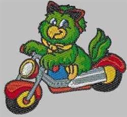 Amazon Parrot Biker embroidery design
