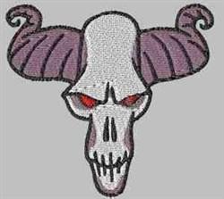 Horned Skull embroidery design