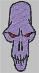 Red-eyed Skull embroidery design