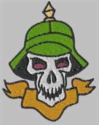 German Soldier Skull embroidery design